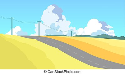 Landscape concept. Outdoor view on the nature.