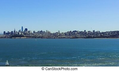view of san francisco city and pacific ocean - landscape...