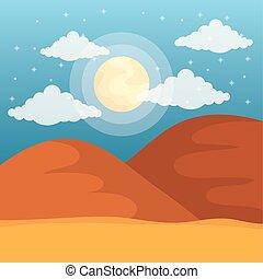 landscape desert dune sand sunny day sky
