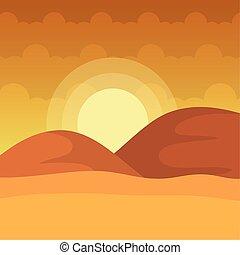 landscape desert dune sand sunny day