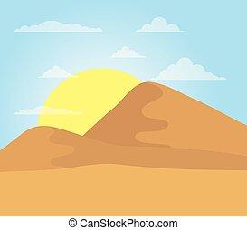 landscape desert dune sand sunny sky