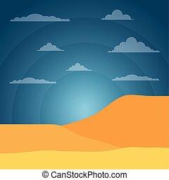 landscape desert sand sky light sun