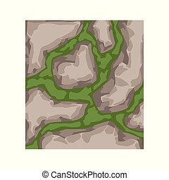 landscape design element, pathway cover, top view vector Illustration isolated
