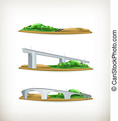 Landscape, design elements vector