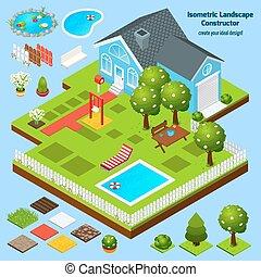 Landscape Design Isometric - Landscape design isometric...