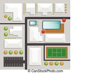andscape design top view