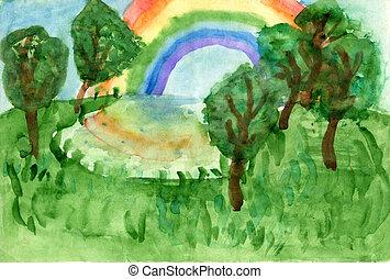 """landscape"", dessins"