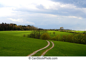 Landscape - Digital photo of a landscape taken in Bavaria ...