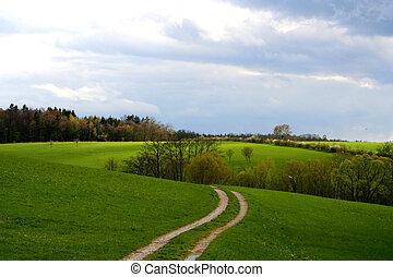 Landscape - Digital photo of a landscape taken in Bavaria ...