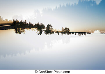 Landscape double exposure - In-camera double exposure of a...