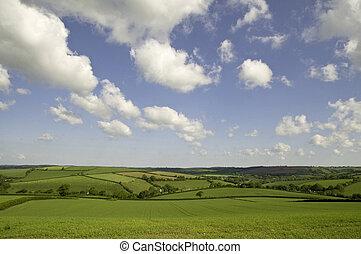 landscape in Southwest England