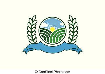 Landscape farm logo Designs Inspiration Isolated on White Background