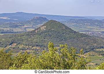 Landscape from a volcanoes in Hungary near the lake Balaton