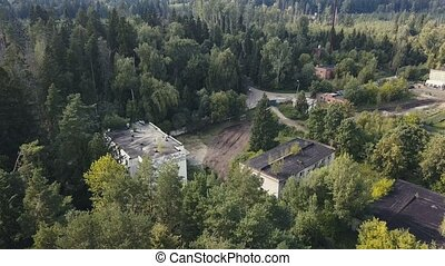 Landscape from above military area for education soldier...