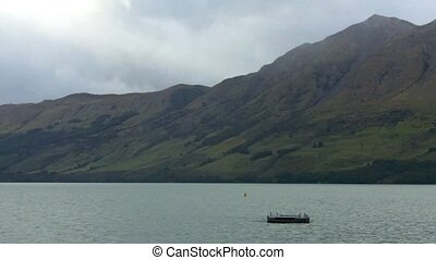 Glenorchy wharf on lake wakatipu - Landscape from Glenorchy...