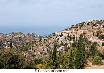 Landscape from Greek mainland near the west coast Greece