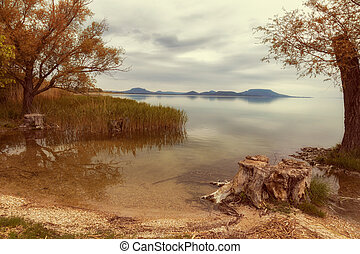 Landscape from lake Balaton in Hungary