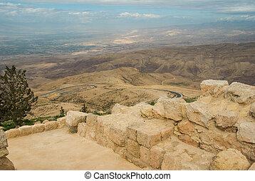 Promise land - Landscape from Nebo mount, Jordan. Promise ...