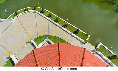 landscape garden top view