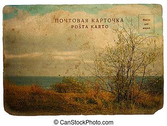 landscape, herfst, sea.