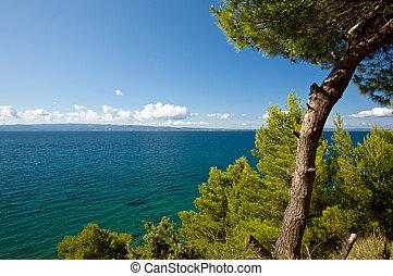 landscape, idyllisch, kroatië, zeekust, adriatisch