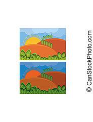 landscape, illustratie