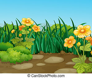 landscape - illustration of a beautiful nature landcape