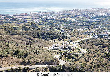 landscape image from the hilltop of spain