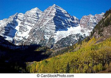 Maroon Bells - landscape image of Colorado symbol mountains...