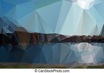 landscape in a minimalist style. Triangular pattern. Vector...