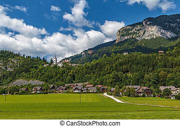 Landscape in Alps mountains, Austria