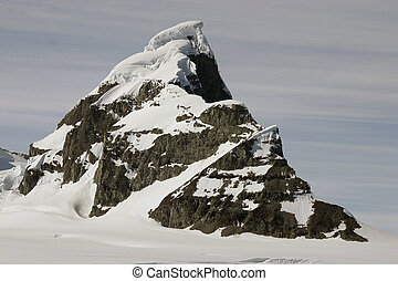 Landscape in Antarctica top of the hill - Top of the hill in...