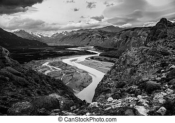 Landscape in Black and White - Impression of the Rio De Las...