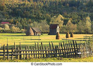 Landscape in Bucovina, Romania