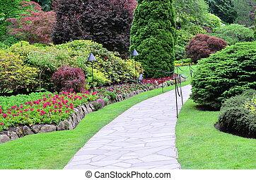 Landscape in butchart garden