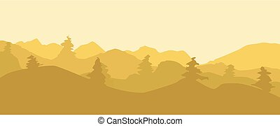 Landscape in dawn - On this illustration is landscape in...