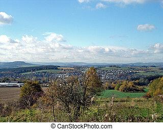 Landscape in Erzgebirge