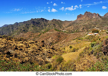 landscape in Gran Canaria, Spain