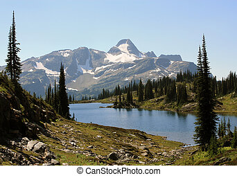 Landscape in Monashee Mountains, BC, Canada.