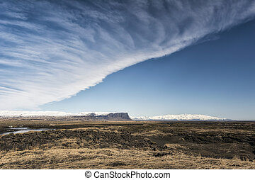 Landscape in southern Iceland