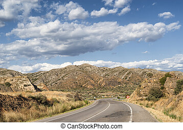 Landscape in Spain at summer