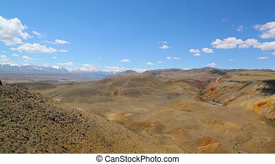 Landscape in the Altai Mountains, pan view - Landscape with...
