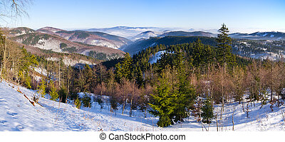Landscape in the hills, Poland