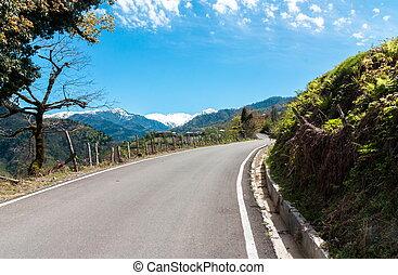 Landscape in the mountains, Ajara, Georgia. Caucasus