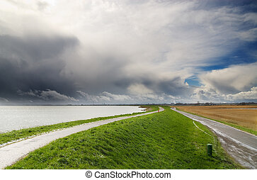 landscape in the netherlands