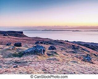 Landscape in the Scottish Higlands, Isle of Skye, Scotland