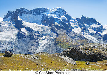 landscape in the Swiss Alps