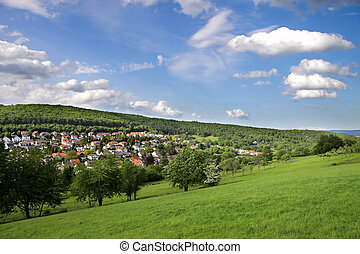 Landscape in the Taunus region in the spring, Germany