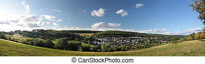 village in the Taunus mountains in summer time, Geramny