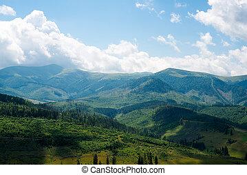 Landscape in the Ukrainian Carpathians